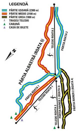Foto : Harta Pârtiilor Roata